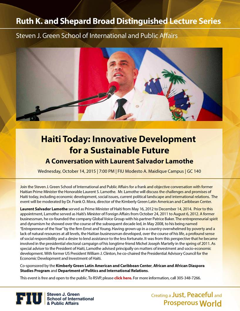 Haiti Today: A Conversation with Laurent Salvador Lamothe