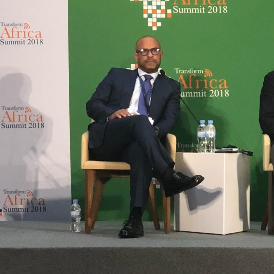 Laurent Lamothe attending the Transform Africa Summit