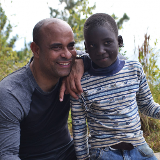 Laurent Lamothe helping kids in Haiti with education