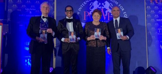 "Laurent Lamothe inducted into the ""HALL OF FAME"" at the LONDON INTERNATIONAL FORUM for EQUALITY"