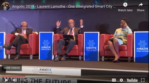 Laurent Lamothe speaking on a panel at the ANGOTIC Forum